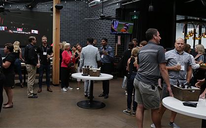 People networking at Bespoke AV mingle event