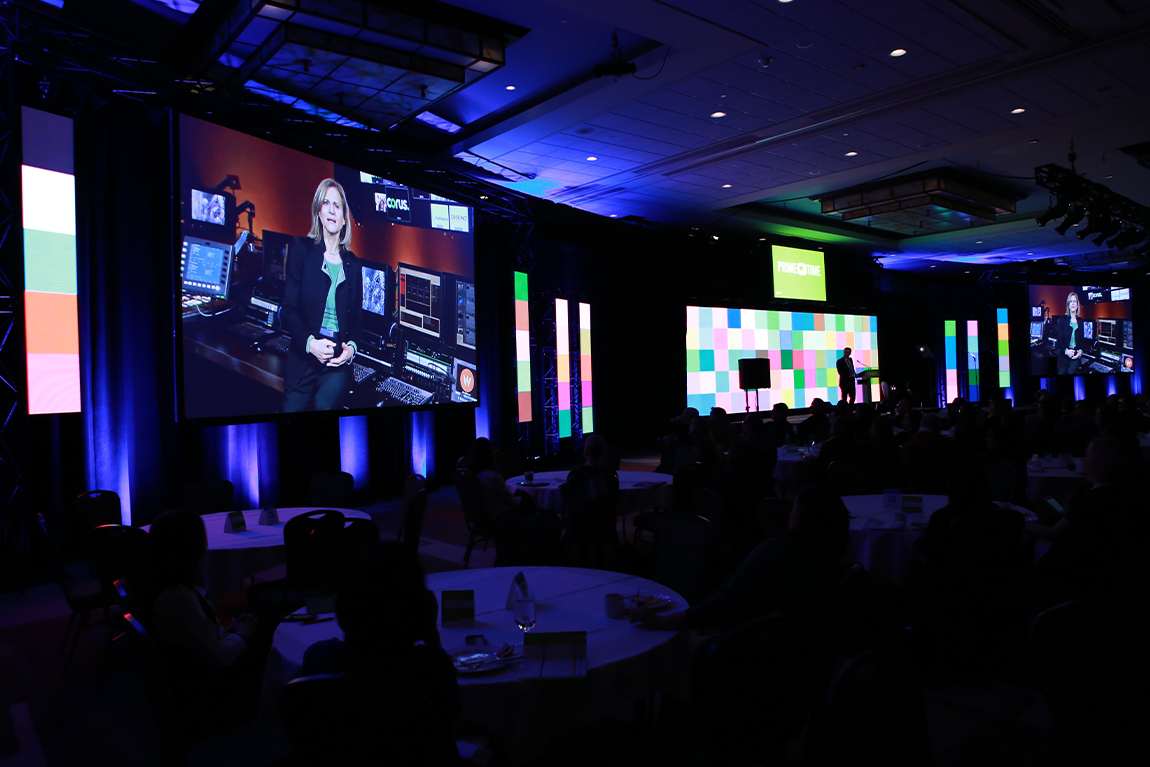 stage and jumbo screens at CMPA Prime Time