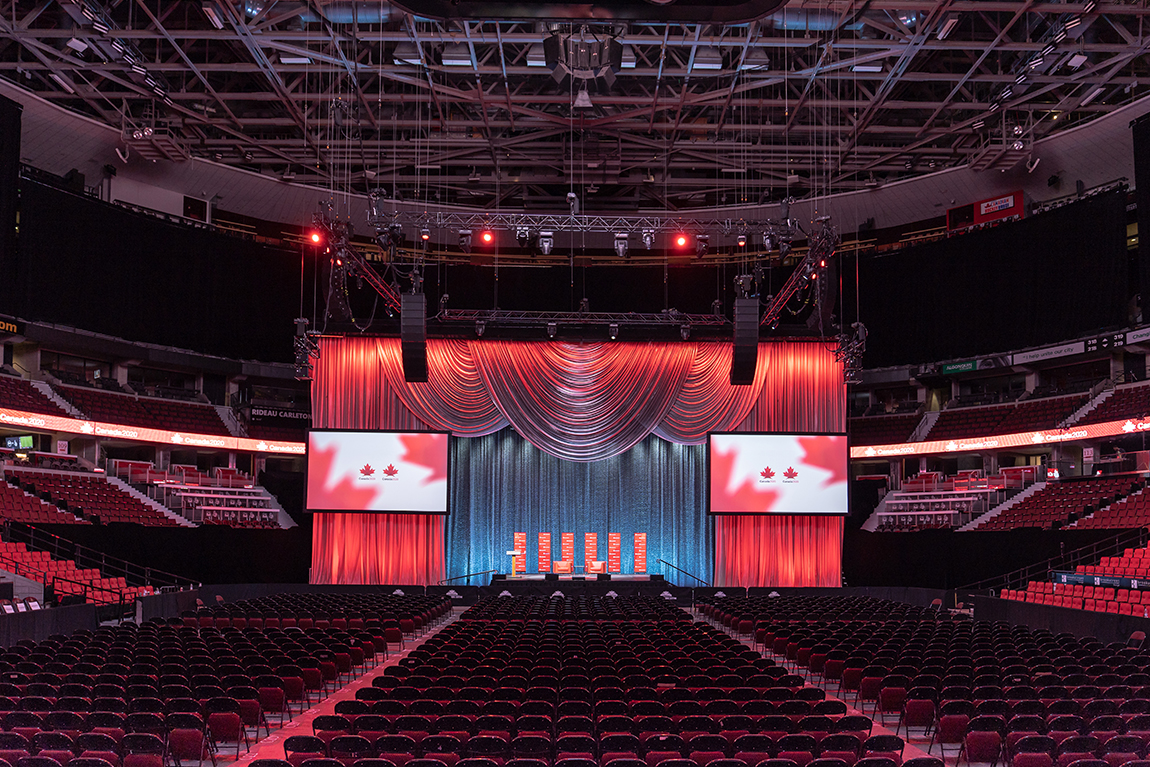 stage set-up at Canada 2020