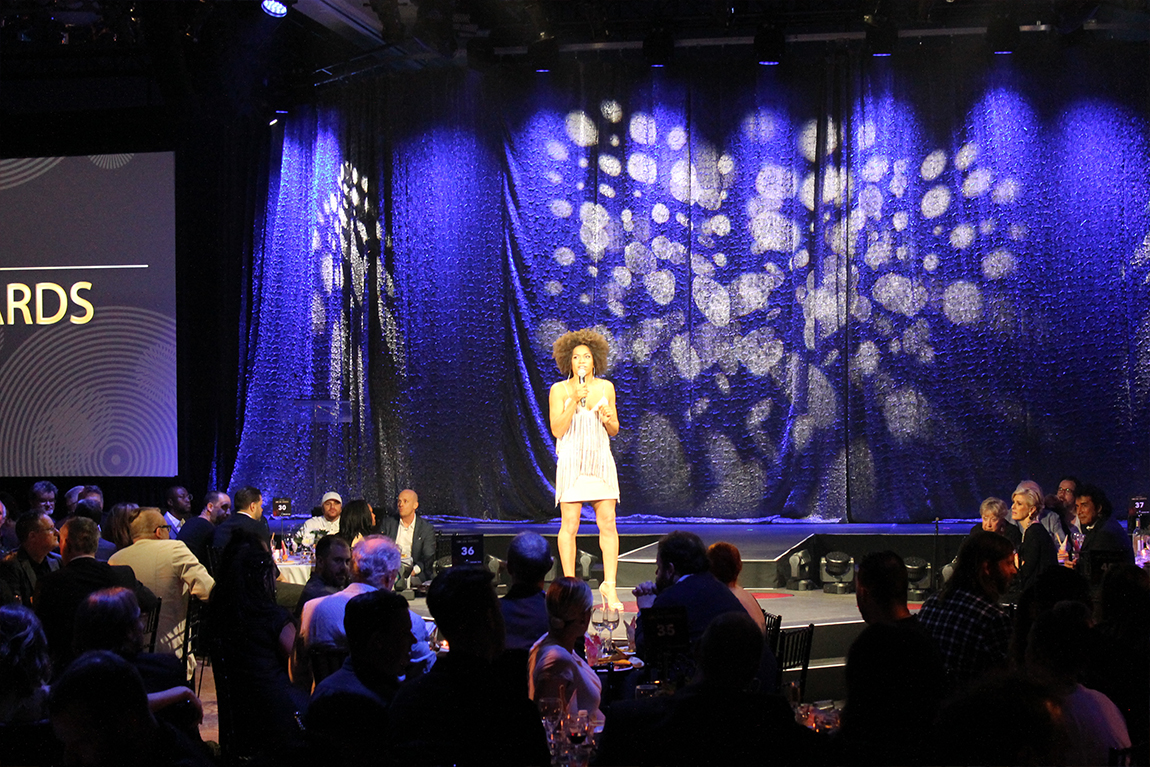 Host on stage at SOCAN Awards