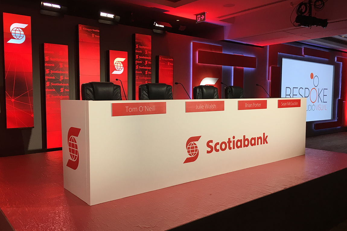 Panelist and stage set-up at Scotiabank AGM