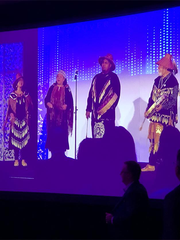 Indigenous Canadians performing at CSAE