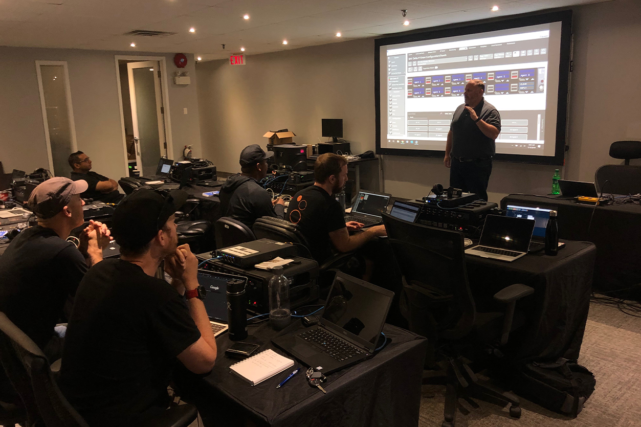 How to Get into AV - technical instructor speaking to students