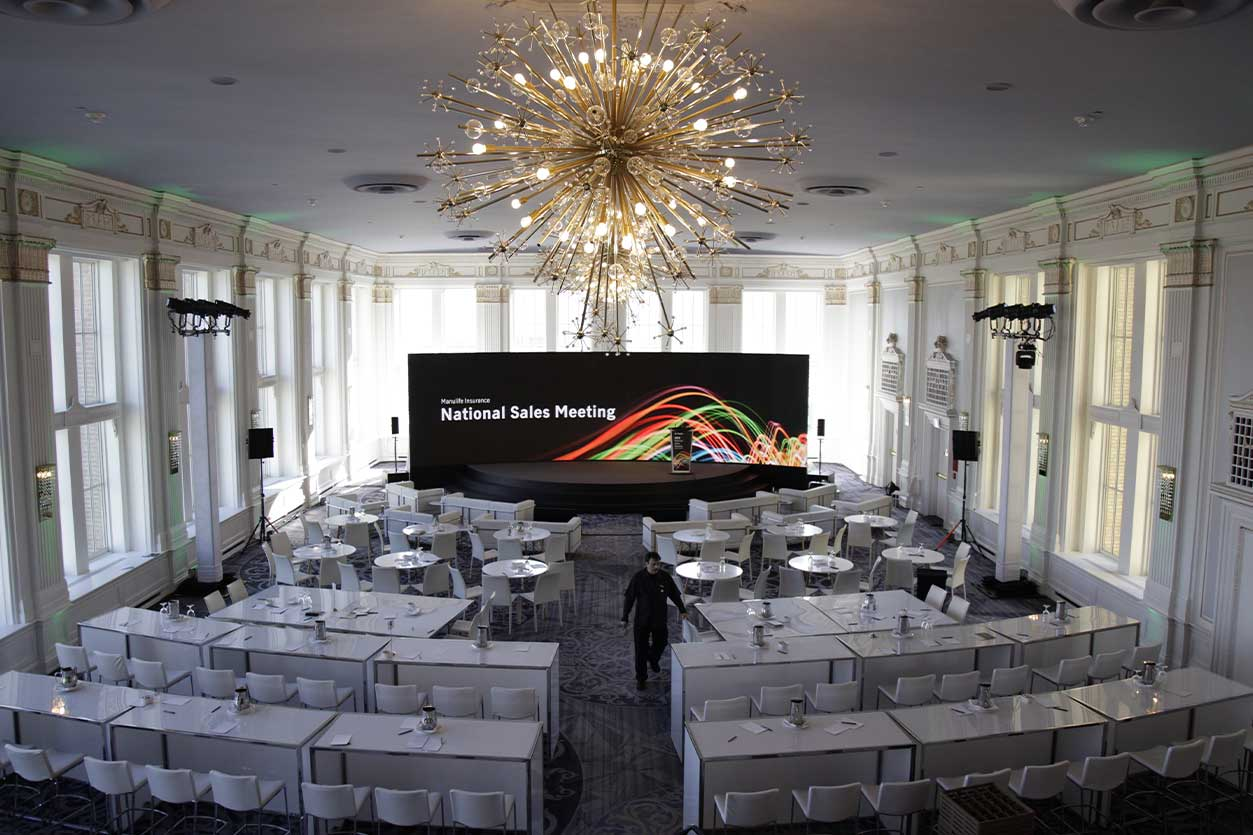 stage design and venue setup, National Sales Meeting