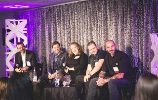 ILEA Toronto - panelists laughing on stage