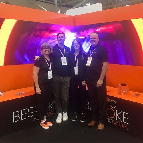 Bespoke booth team members at CMEE 2019