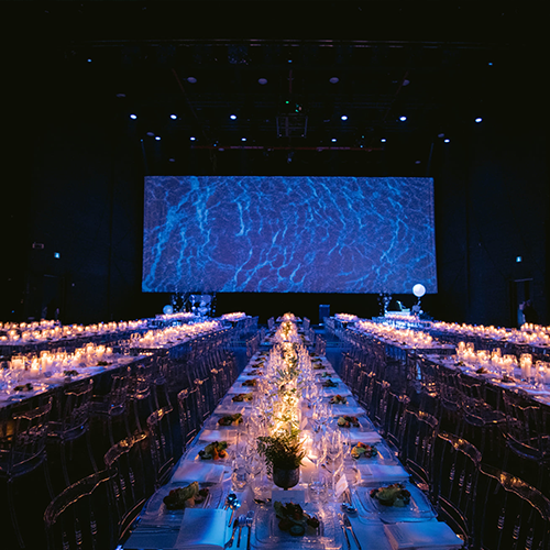 Gala set up for Canadian Opera Subaqueous dinner