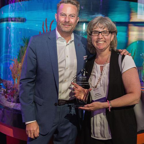 Melissa Deslauriers posing with her 2018/2019 ILEA Dedication Award