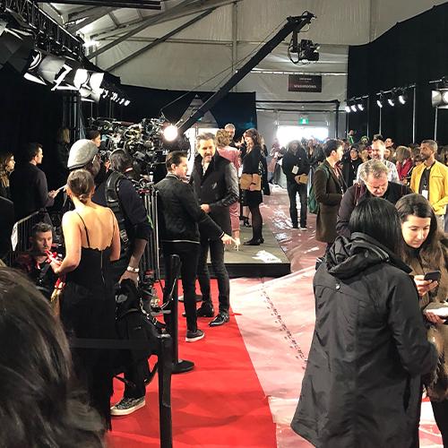 JUNO Awards red carpet with media