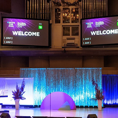 event set-up at Move the Dial Summit 2019