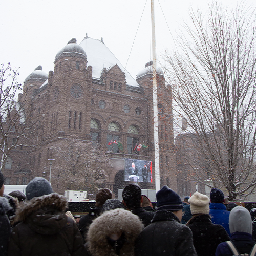 event set-up at Queen's Park - Remembrance Day 2019