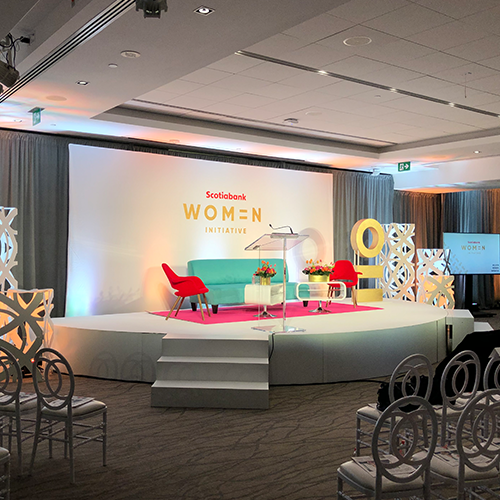 stage design for Scotiabank Women Initiative