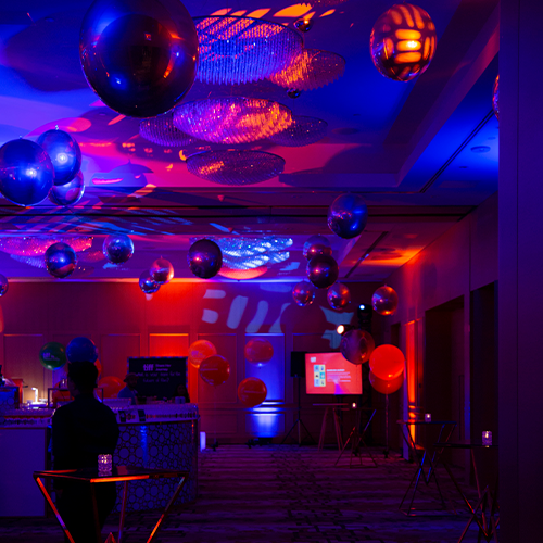 TIFF 2019 party - audio-visual set-up