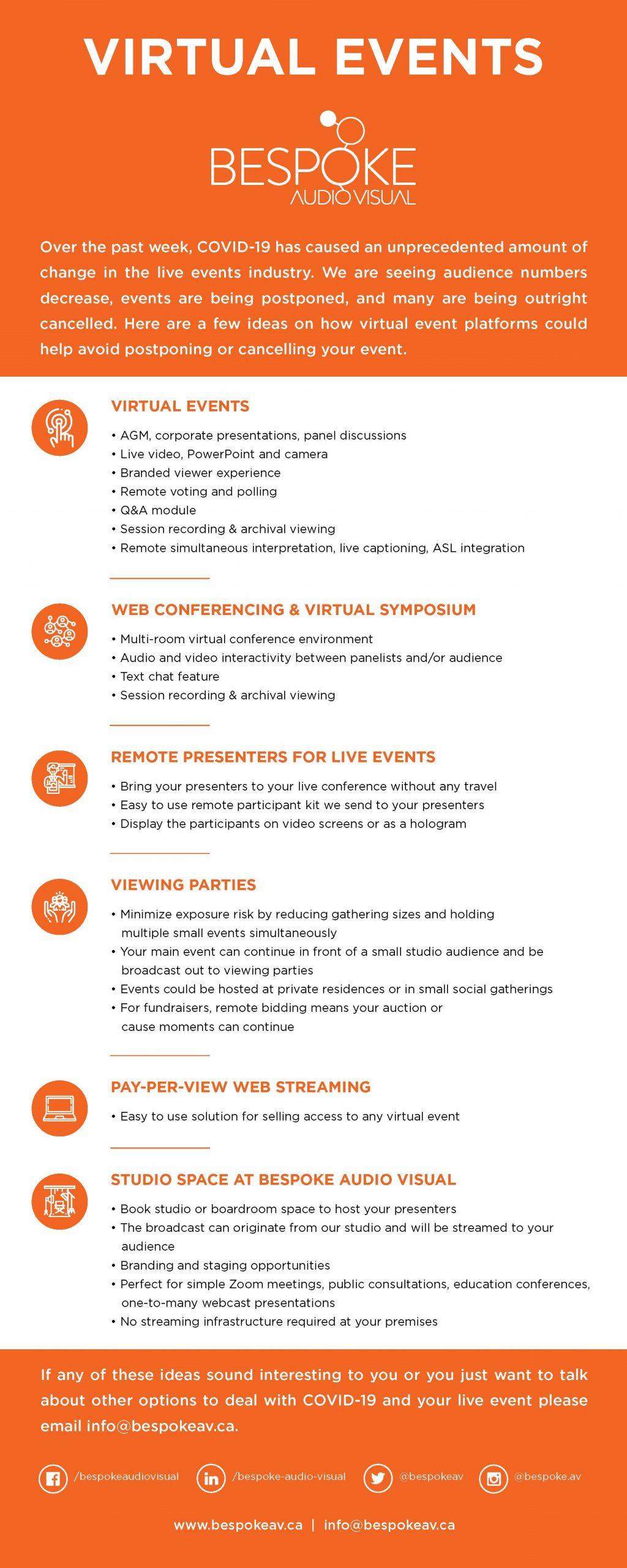 Bespoke Audio VIsual Virtual Events