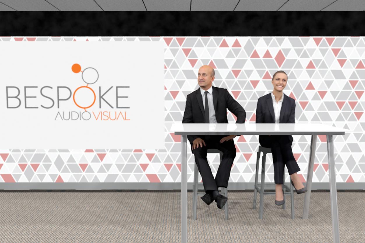 Bespoke AV - studio with two presenters