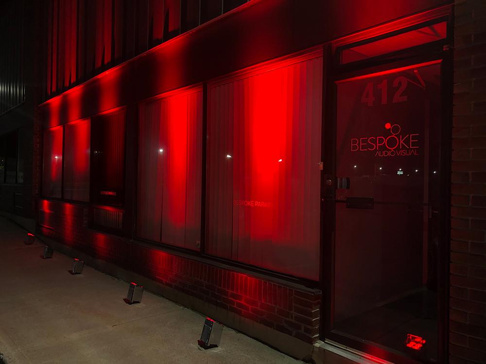 Bespoke AV building with event lighting