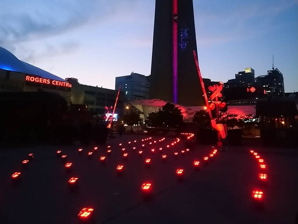 Light up Live - Event lighting outisde of Rogers Centre