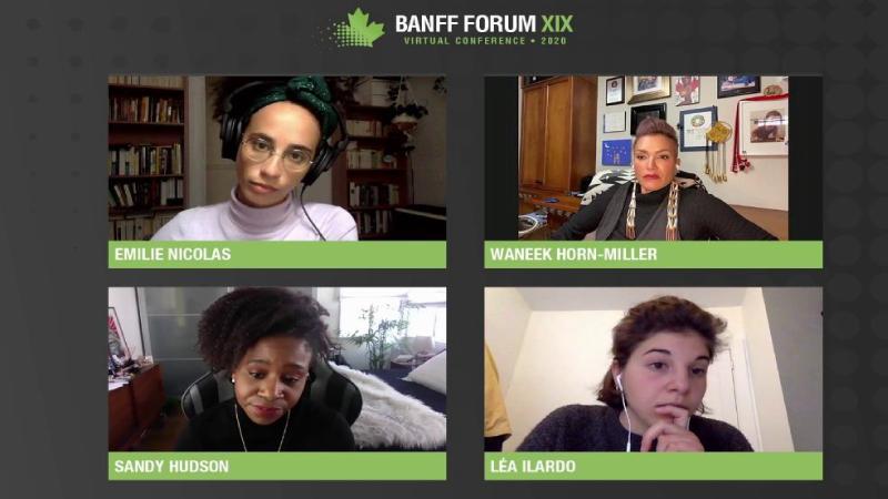 Banff-Forum-XIX Virtual Confrerence - Zoom window of speakers